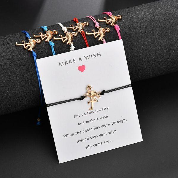 Flamingo Life tree Compass Charm Bracelets for Women Men Children Lucky Red String Friendship Bracelets Jewelry Gift Adjustable