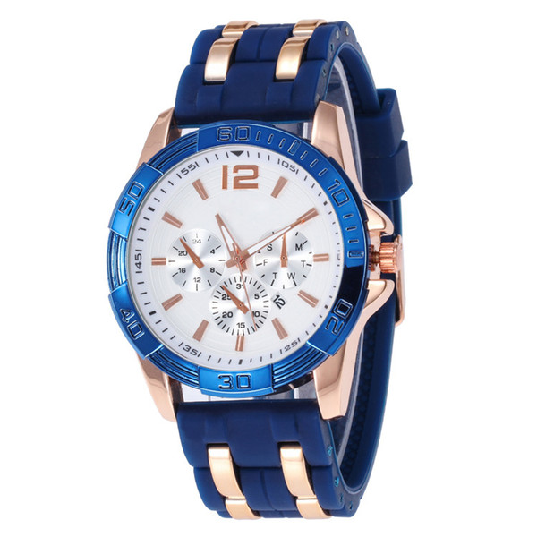 2019 new men's fashion watch features complete, silicone watch 6 pin leisure quartz watch high-quality selection of l5