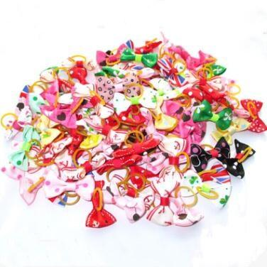 best selling Pet hairband Handmade Dog Bow Hair Little Flower Bows For Dogs Pet Grooming Accessories Products Cute Cat Supplies 50pcs lot LXL712-1