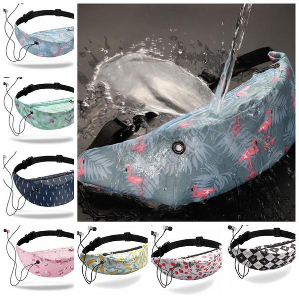 top popular 3D Printed Waist Bag Outdoor Waterproof Fanny Pack Unisex Women Girls Belt Chest Bags Waist Pack KKA6573 2021