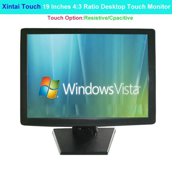 best selling Xintai Touch 19 Inches 4:3 Ratio Desktop Touch Monitor 5 Wires Resistive Screen Resolution (1280*1024)