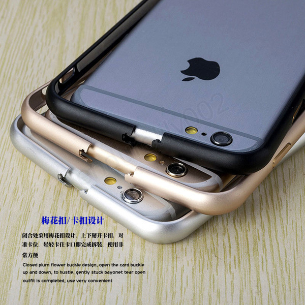 Fashion Luxury Metal Bumper Frame Ultrathin Aluminium Mteal Alloy Arc Protector Case Cover For iphone 7 6 6S plus 5 5S SE 4S