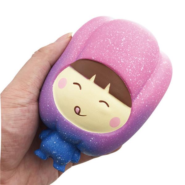 Squishy biber yüksek kaliteli Jumbo Yavaş Yükselen Yumuşak Boy Telefon Sıkmak oyuncaklar Kolye Anti Stres Çocuk Karikatür Oyuncak Dekompresyon