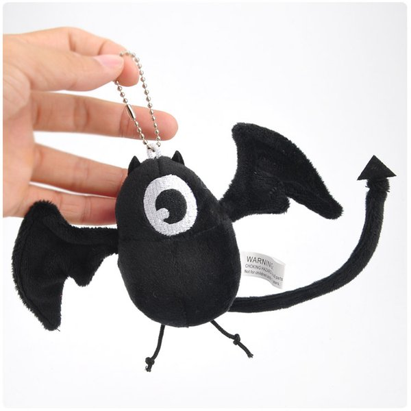 """Top New 4"""" 10CM Seraph Of The End Cosplay Krul Tepes Black Bat Plush Doll Anime Dolls Keychains Pendants Stuffed Gifts Soft Toys"""