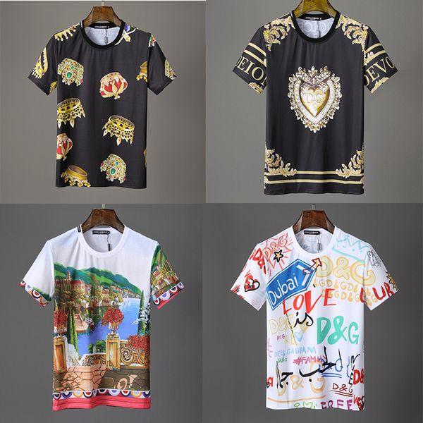 HEIßER Markenbrief D Mens Oansatz T ShirtsHuman Kopf Hip Hop Druck Shantou Kurzarm Kristall Pailletten Shirts Mode Womens Shorts