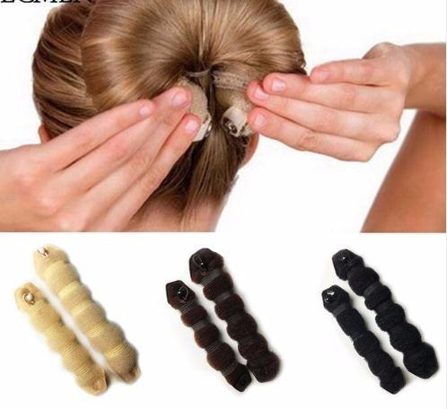 1 Set Femmes Fille Style Styling Outils Brioches Braiders Curling Chapeaux Corde Bande De Cheveux Accessoires