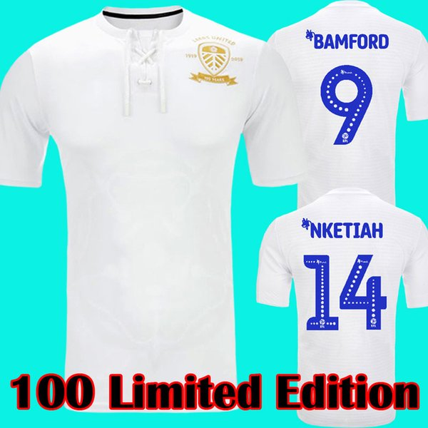 best selling Leeds United 100TH anniversary Centennial limited edition NKETIAH centenary soccer jersey ROOFE BAMFORD ALIOSKI CENTENARY football shirts