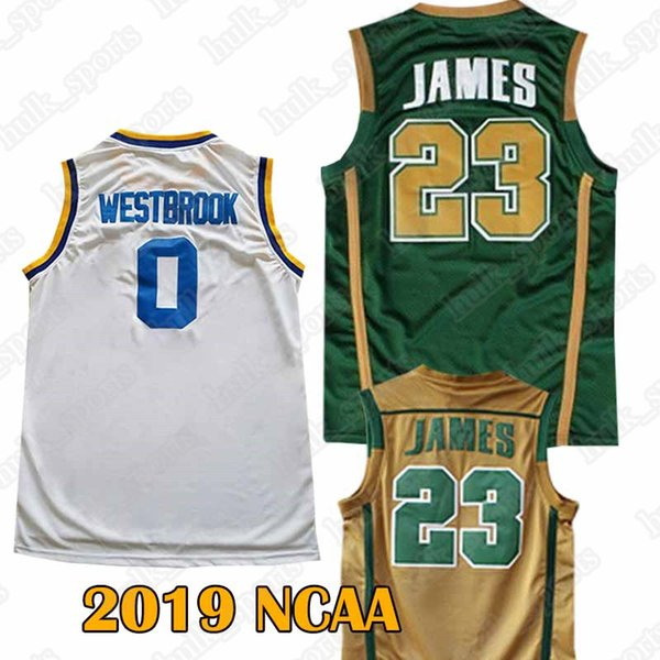 official photos 036ee afa4e 2019 NCAA Jerseys 23 LeBron James Jersey 0 Westbrook Jersey Men'S 2019 High  Quality Hot Sell Shirt From Hulk_sports, $15.91 | DHgate.Com