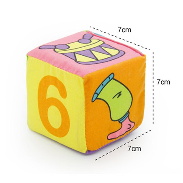aby building blocks 6pcs/lot Infant Cloth Cube Building Blocks Soft Baby Rattles Play Toy Kids Cube Cloth Children Early Learning Educati...