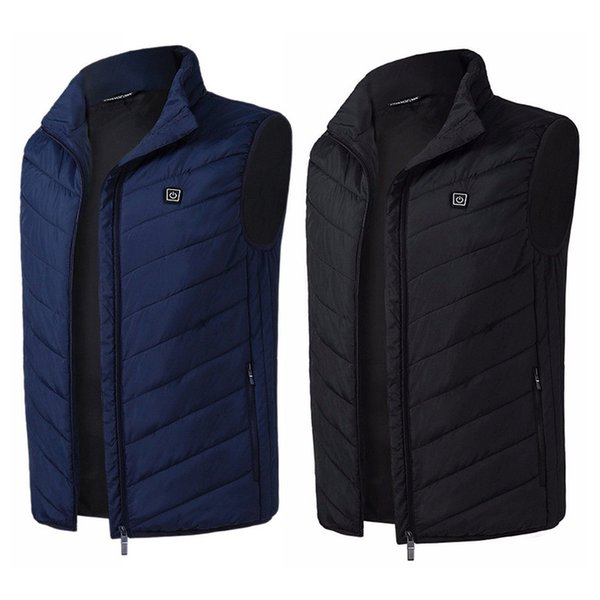 feather electric battery heating usb sleeveless vest motorcycle vest winter outdoor jacket warm clothing for ski riding