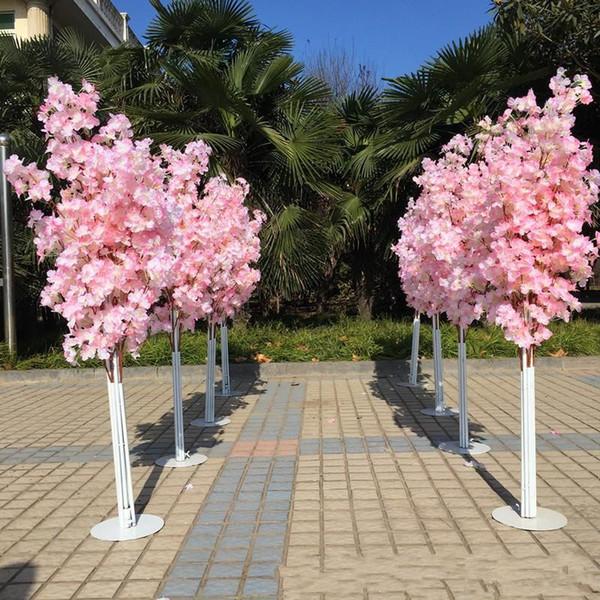 Künstlicher Kirschblütenbaum Römische Säule Straße führt Hochzeit Einkaufszentrum Geöffnet Requisiten Eisen Kunst Blumentüren 36yl gg