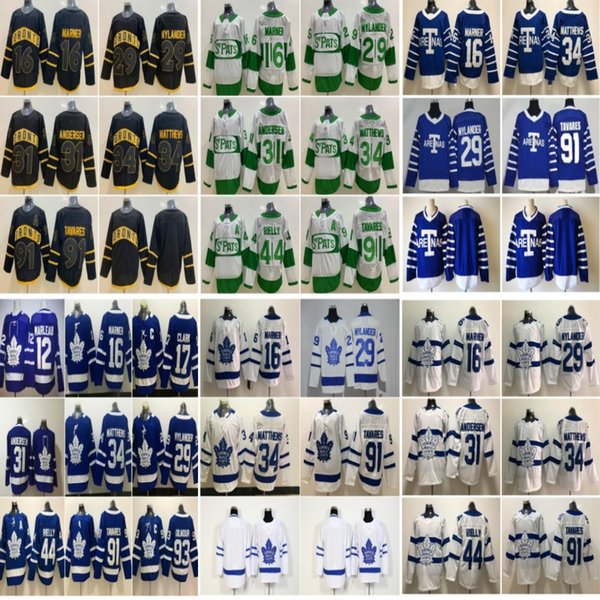 Toronto Maple Leafs Jersey 91 John Tavares 34 Auston Matthew 16 Mitchell Marner 88 William Nylander 44 Morgan Rielly Hockey Jerseys