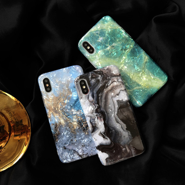 For iPhone 8 7 XR XS MAX Glitter Marble Case Soft TPU Back Cover For iphone 6 6S 7 8 Plus Shockproof Protective Phone Case Cover