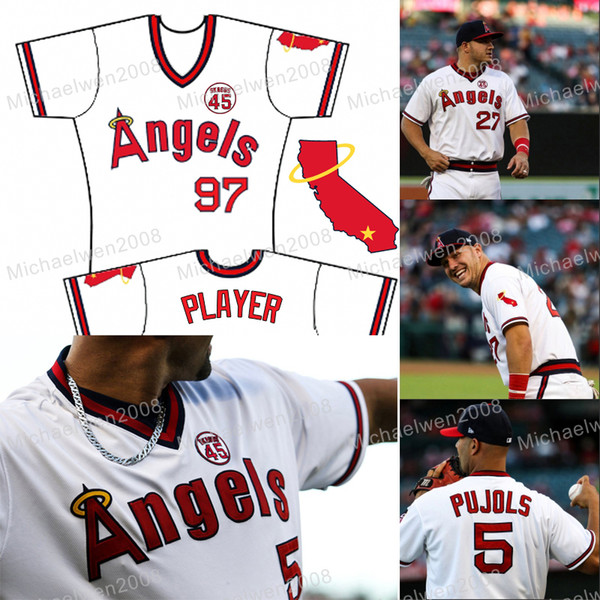 1978 Pullover retrò Los Angeles Tyler Skaggs Memorial Patch Angles Mike Trout Angels Shohei Ohtani Albert Pujols Calhoun La Stella Maglie