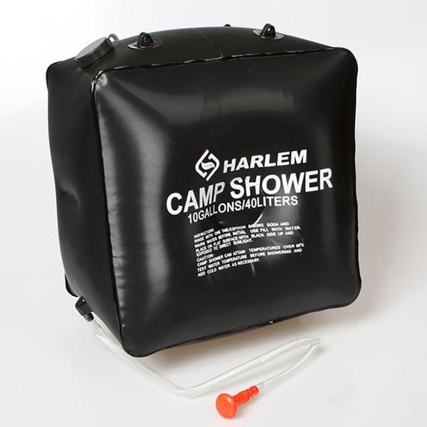 Sac de douche solaire pour le camping 40L Chauffage solaire pour le camping en plein air