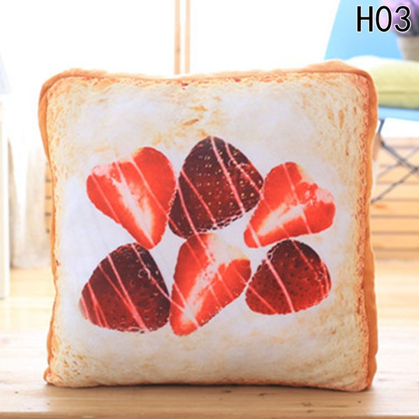 Cotton food a slice of Bread Plush Pillow Seat Cushion Mat Doll