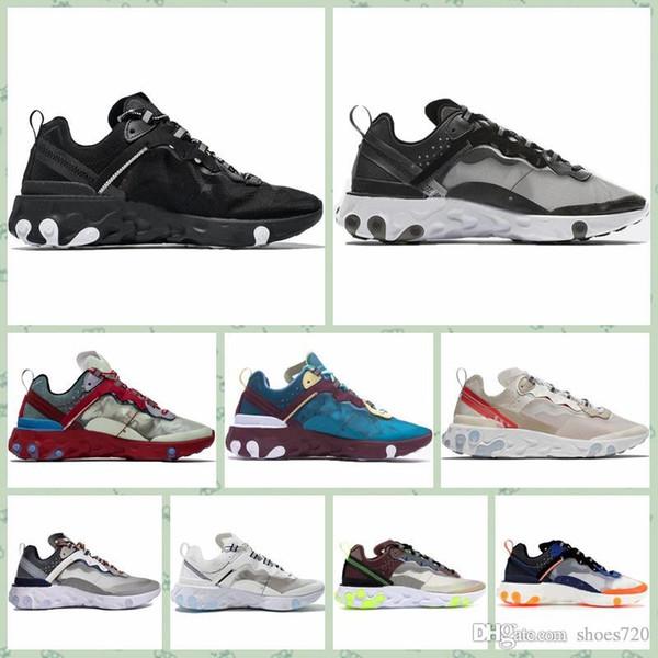 Nike React element 87 2019 di Epic Reagire Element 87s Undercover Men scarpe da corsa Undercover banda verde delle donne di colore Designer Shoes sneakers sport 5.5-11