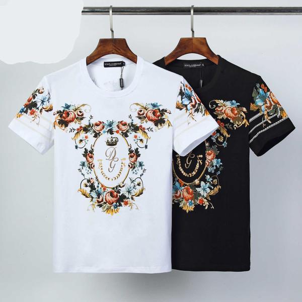 T-shirt dos homens Moda Casual Tamanho especial M-3XL Confortável respirável WSJ007 # 120614 zjy524