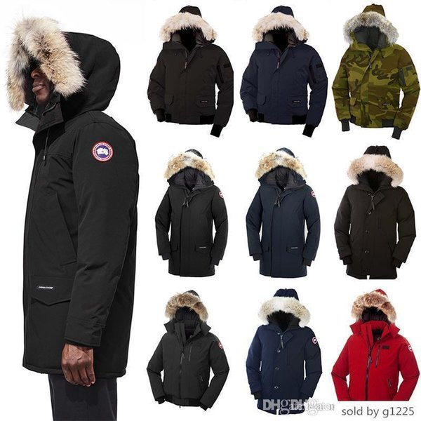 2019 goose s langford banff chateau calgary parka borden chilliwack bomber men winter feather coat jacket real fur collar down jack thumbnail