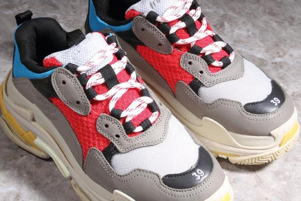Sıcak Paris Triple-S Tasarımcı Lüks Ayakkabı Düşük Üst Sneakers Üçlü S erkek ve kadın Ayakkabı Rahat Ayakkabılar Boyutu 36-45