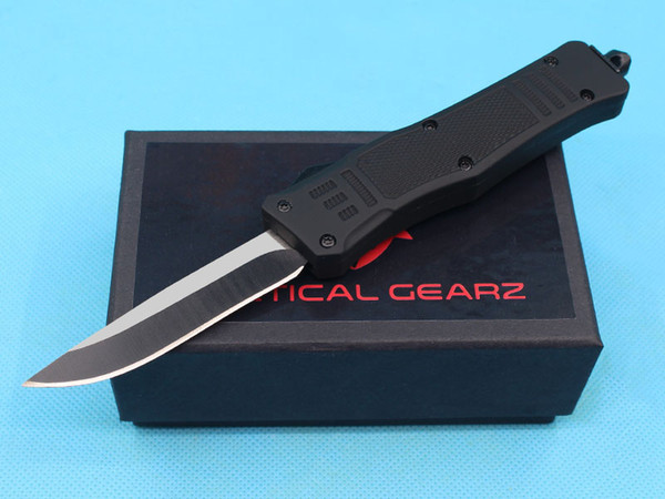Factory Price 7 Inch Small Size 616 Auto Tactical Knife 440C Black Blade EDC Pocket Knives With Nylon Bag