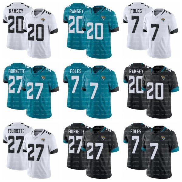 best loved c8bfb e7563 2019 Men Jacksonville 7 Nick Foles Jersey 27 Leonard Fournette Jaguars  Jersey 20 Jalen Ramsey Football Jerseys White Green Black Stitched From ...
