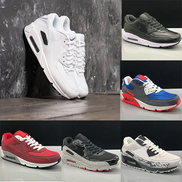 Nike Air Max 90 shoes for men clásicos 90 hombres y mujeres zapatillas de deporte entrenador deportivo superficie de colchón de aire transpirable zapatos deportivos