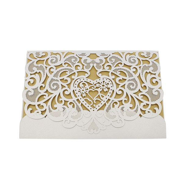 200pcs romantico carta invito matrimonio delicato intagliato piccolo motivo floreale taglio laser farfalla amore cuore bomboniere (solo copertina)