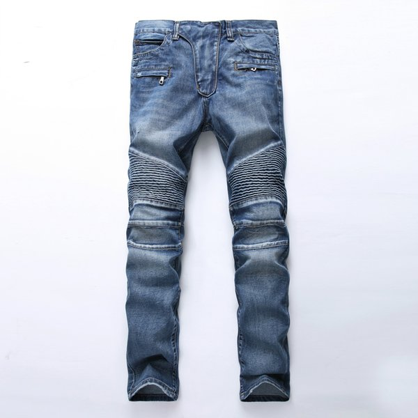 77a12a12d Pantalones vaqueros baratos para hombres Skinny Vintage Jeans Denim Agujero  de la rodilla Hiphop Pantalones lavados