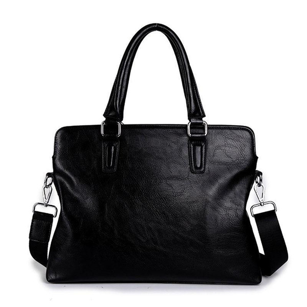 European And American New Business Men Use PU Leather Business Black Hand Briefcase Leisure Slant Shoulder Bag
