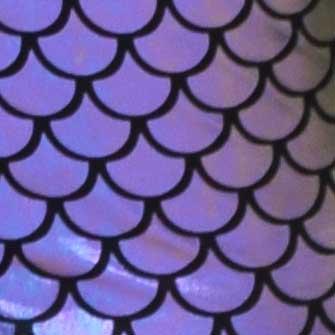 écailles de poisson violet