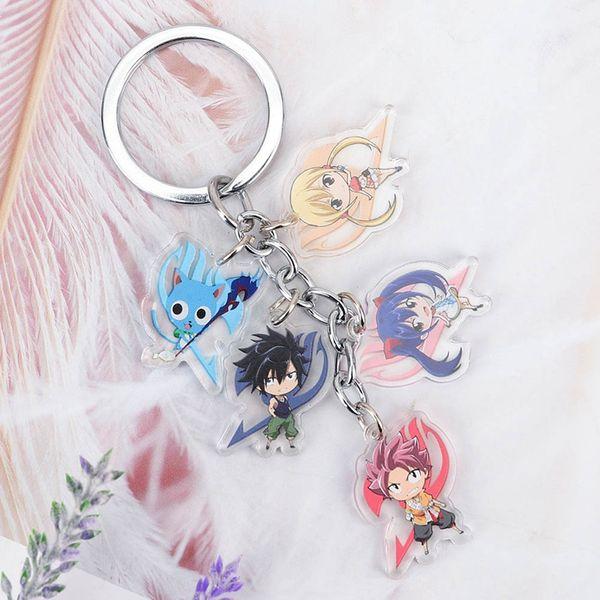 Fairy Tail anime Acrylic model Keyring key chain keychains new