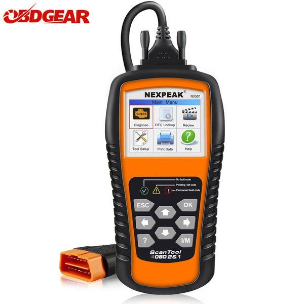 OBD2 Car Auto Diagnostic Scanner NEXPEAK NX501 ODB2 Tool Engine Code Reader In Russian Portugues Automotive