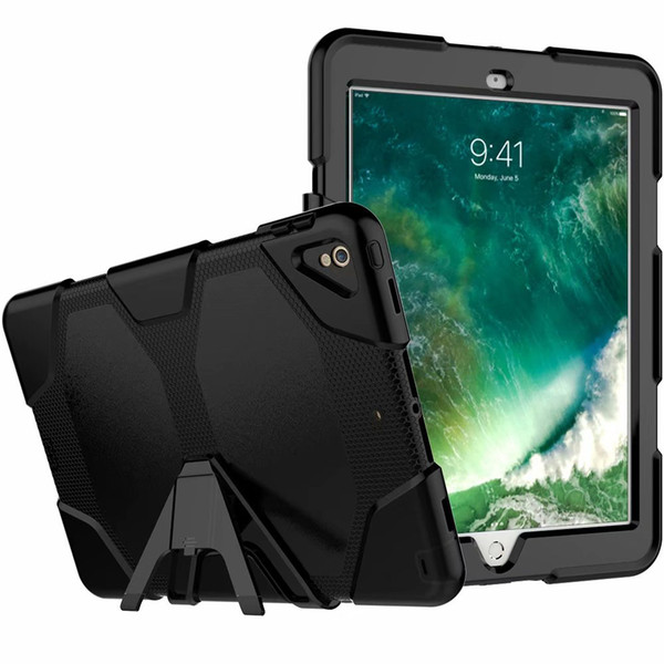 For iPad pro 12.9 inch 2018 Tough Rugged Military Duty Shock Proof Dirt Proof Armor Stand Case With Screen Protector For For iPad pro 10.5
