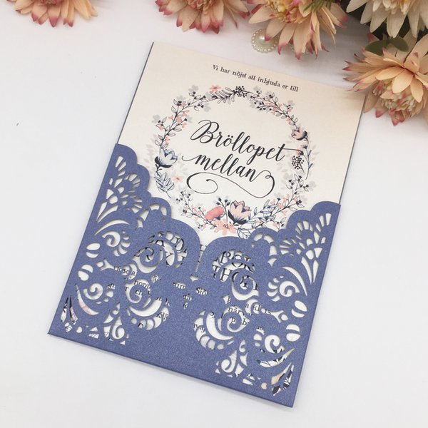 Single Packet Hollow Laser Cut Wedding Invitation Cards Traditional Lace Engagement Ceremony Supply To Invitation Cards Wedding Invitations Melbourne