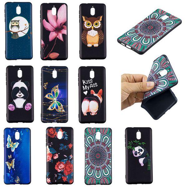 Soft TPU Back Phone Case For Moto G5 G6 Slim Fit Flower butterfly owl panda Case for Moto G5 Plus G6 Plus Cover
