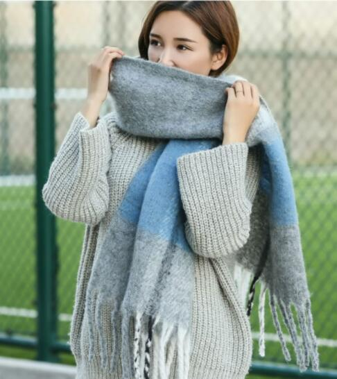 2019 hot Winter Women's Long Cashmere Scarf Warm Wrap Student Scarf Shaw 220*45cml