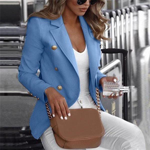 Casaco de escritório Roupas Femininas OL Bussiness Jacket Plus Size 5XL Casual Veste Femme Botão Fino Senhoras Casaco Feminino