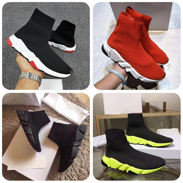 Luxury Sock Shoes Casual Shoe Speed Trainer High Quality Sneakers Speed Trainer Sock Race Runners black Shoes women Luxury Shoe with box