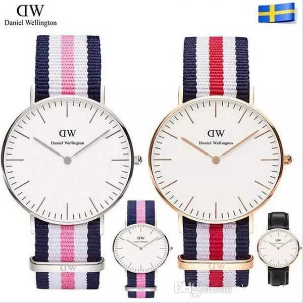 Men's Women's DW Watch 36MM 40MM Leather Nato Strap Fashion Brand Couple Daniel Wellington Quartz Watch