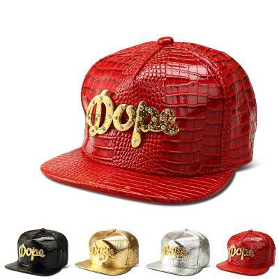 DHL/ups/TNT ship Vogue DOPE Logo Crocodile hip hop rap PU Hats Gold Rhinestone Street DJ Money Baseball Caps men women Sports Caps