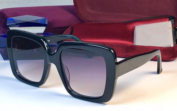 Diseñador de lujo Mujeres Gafas de sol 0418 marco cuadrado simple color sólido estilo de calidad superior vendiendo gafas UV400 gafas de protección con caja