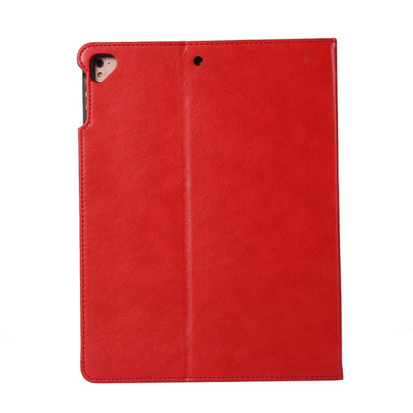Classic PU Imitation Leather Tablet Case For ipad 6 AIR With Built-in pen slot Folding Stand Dormancy Cover Shell