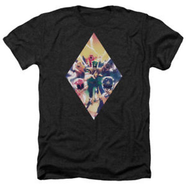 Mighty Morphin Power Rangers SWholesaleC RANGER DIAMOND 1 Heather T-Shirt All Sizes