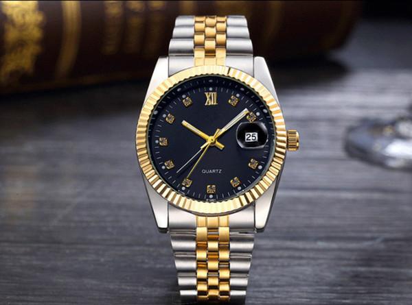 Mode uhren luxusuhren heiße art gold diamant uhr unisex männer student paar wasserdicht stahlband quarz zwischen gold uhr