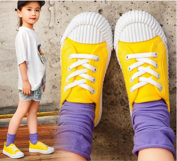 Spring and Autumn 2011 Canvas Shoes for Boys and Girls Neutral Children Fashion Soft-soled Candy Casual Shoes Breathable Comfortable Anti-sk