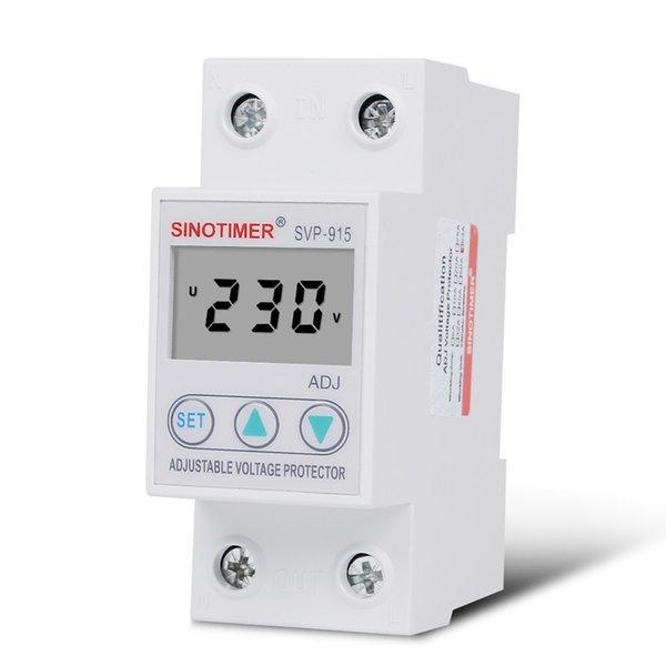 강렬 장비 공급 회로 차단기 63A DIN 레일 LCD 디스플레이 조절 가능한 자동 재 연결 전압 보호 용 회전 ...