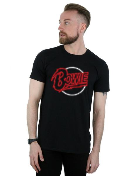 Camiseta David Bowie con logo neón para hombre