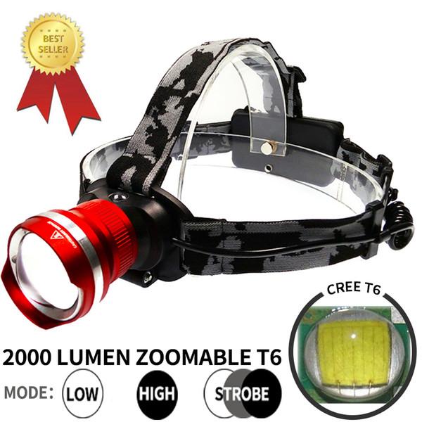 5000LM 3 Farbe erhältlich Wasserdichte Scheinwerfer Ladegerät Laterne Zoomable Portable Tactical Scheinwerfer Stirnlampe