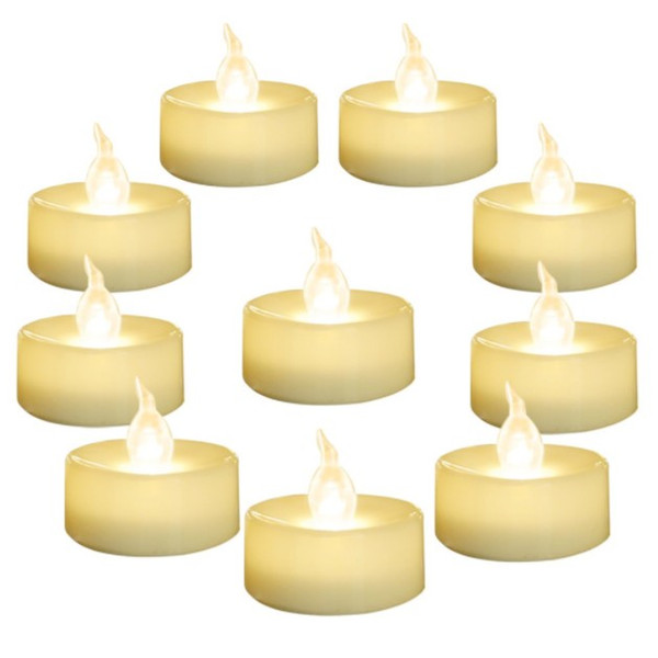 """SXI 24 Pack Warm White Battery LED Tea Lights,Flameless Flickering Tealight Candle,Dia 1.4"""" Electric Fake Candle for Votive,Wedding"""